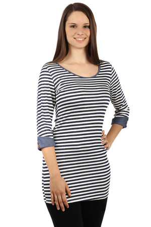 12b0782b9bc8 Lacné dámske dlhé tričká s trojštvrťovým rukávom s potlačou s ...