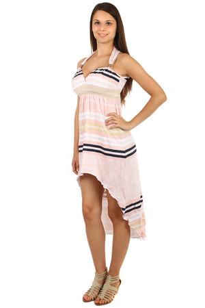 Asymetrické pruhované midi šaty 7c9b859b637
