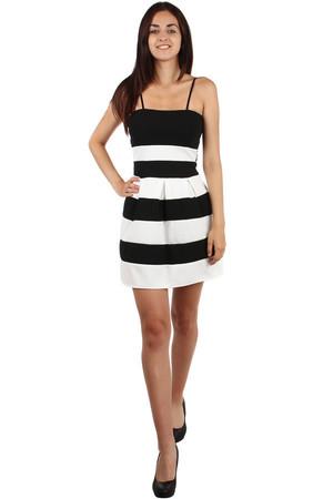 Krátke pruhované šaty s úzkymi ramienkami 1ed0954b410