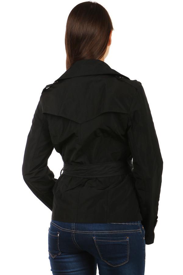 Dámsky čierny plášť na gombíky  088847de841